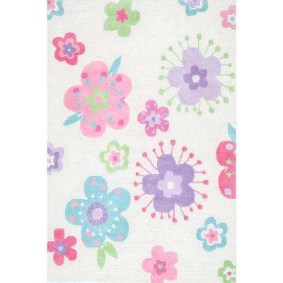 Handmade Louella Floral Off White 5 ft. x 7 ft. Area Rug