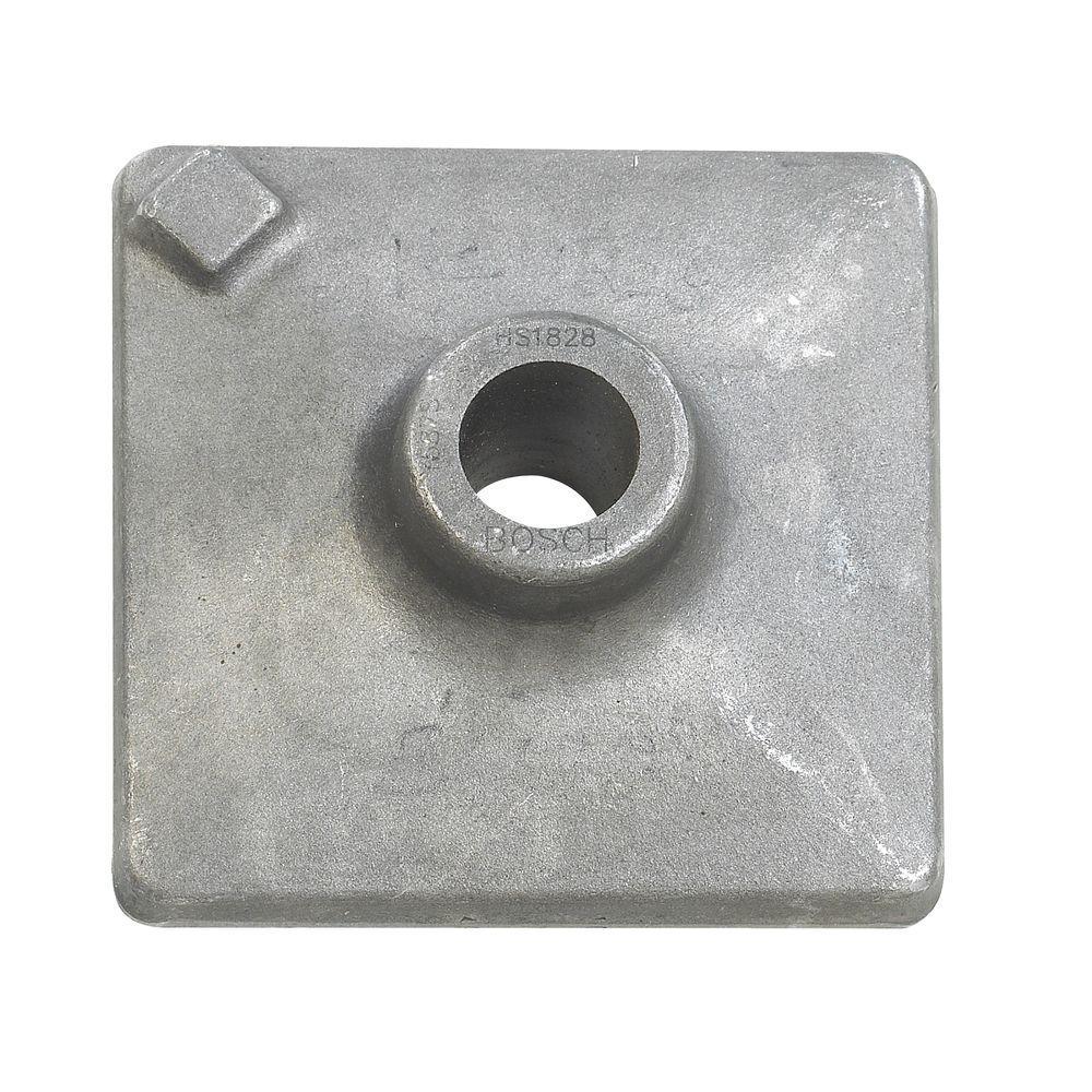 5 in. x 5 in. Hammer Steel Round Hex Shank Tamper Plate