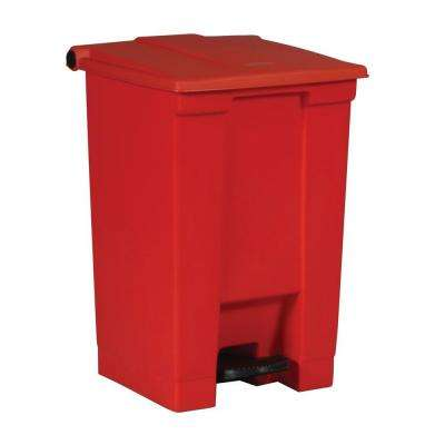 12 Gal. Red Fire-Safe Step-On Trash Can