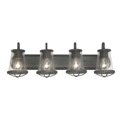 Georgina 4-Light Weathered Iron Vanity Light