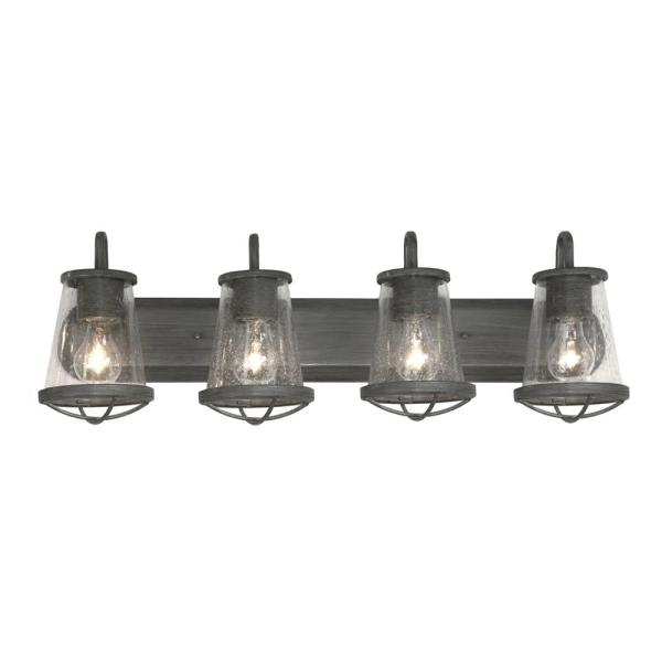 Home Decorators Collection Georgina 4 Light Weathered Iron Vanity Light Hb2584 322 The Home Depot