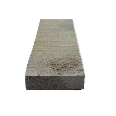 1 in. x 4 in. x 6 ft. Weathered Grey Painted Rough Pine Barn Board (6 Per Box)