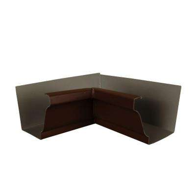 6 in. Royal Brown Aluminum Inside Box Gutter Miter