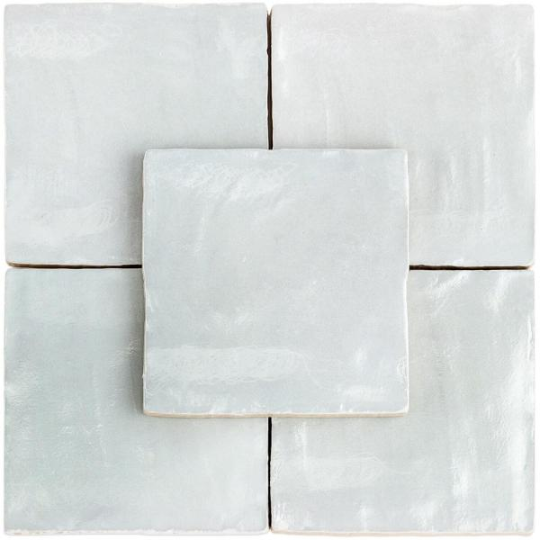 Amagansett Blue 4 in 50 Pieces 5.38 Sq. Ft. // Box Satin Ceramic Wall Tile x 4 in