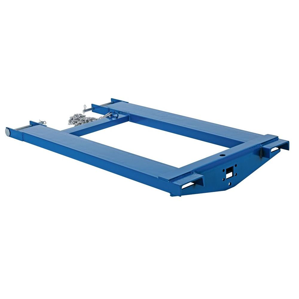 44 in. Steel Tow Ball and Pintle Fork Truck Attachment