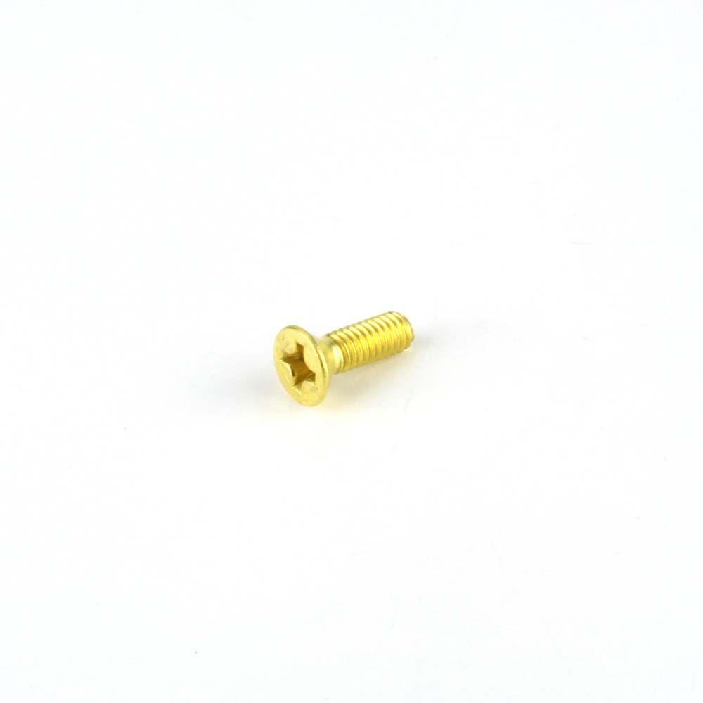 #8-32 x 1/2 in. Phillips Flat Head Brass Machine Screw (6-Pack)