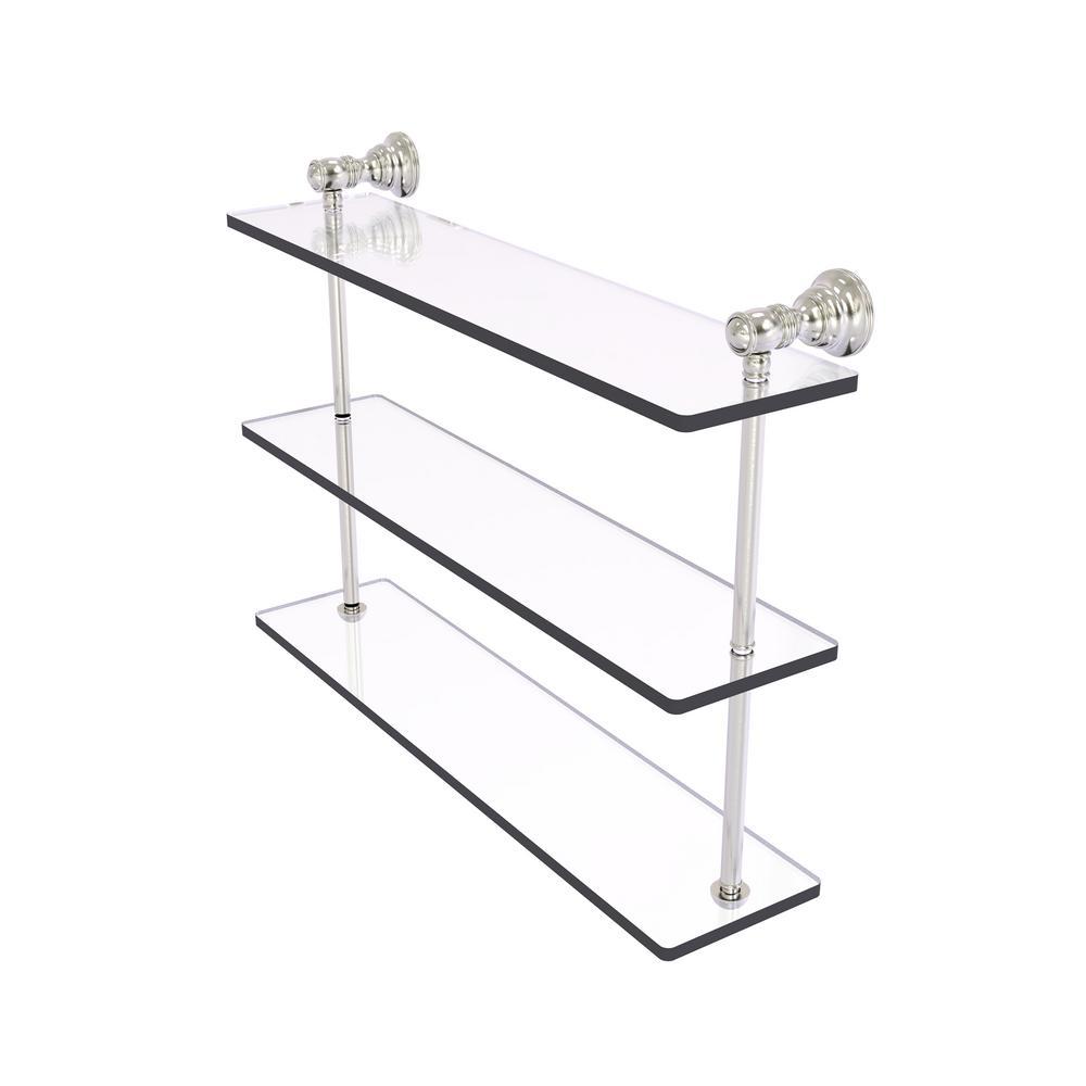 Triple Gl Shelf In Satin Nickel Cl