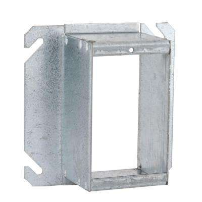 4 in. Square Single Device Mud Ring, Raised 2 in.