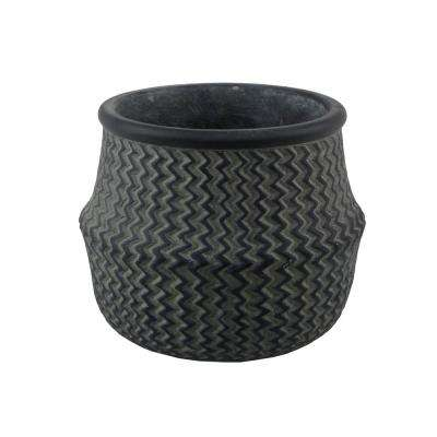 Small 5.75 in. Cement Belly Basket Planter