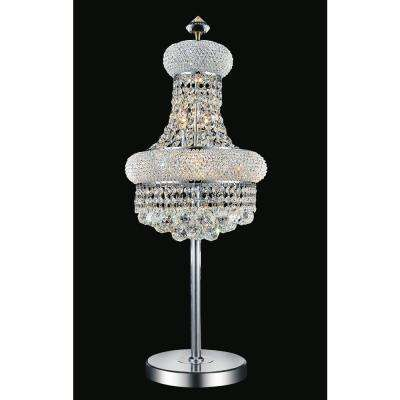 Empire 34 in. Chrome Table Lamp