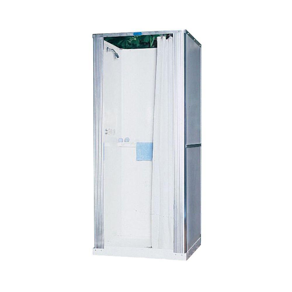 Swan 32 in. x 32 in. x 73 in. Free-Standing Fiberglass Shower Cabinet in White