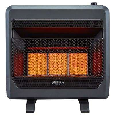 24 in.  30,000 BTU T-Stat Control Vent Free Natural Gas Infrared Gas Space Heater with Blower
