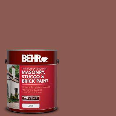 1 gal. #S170-6 Red Curry Flat Interior/Exterior Masonry, Stucco and Brick Paint