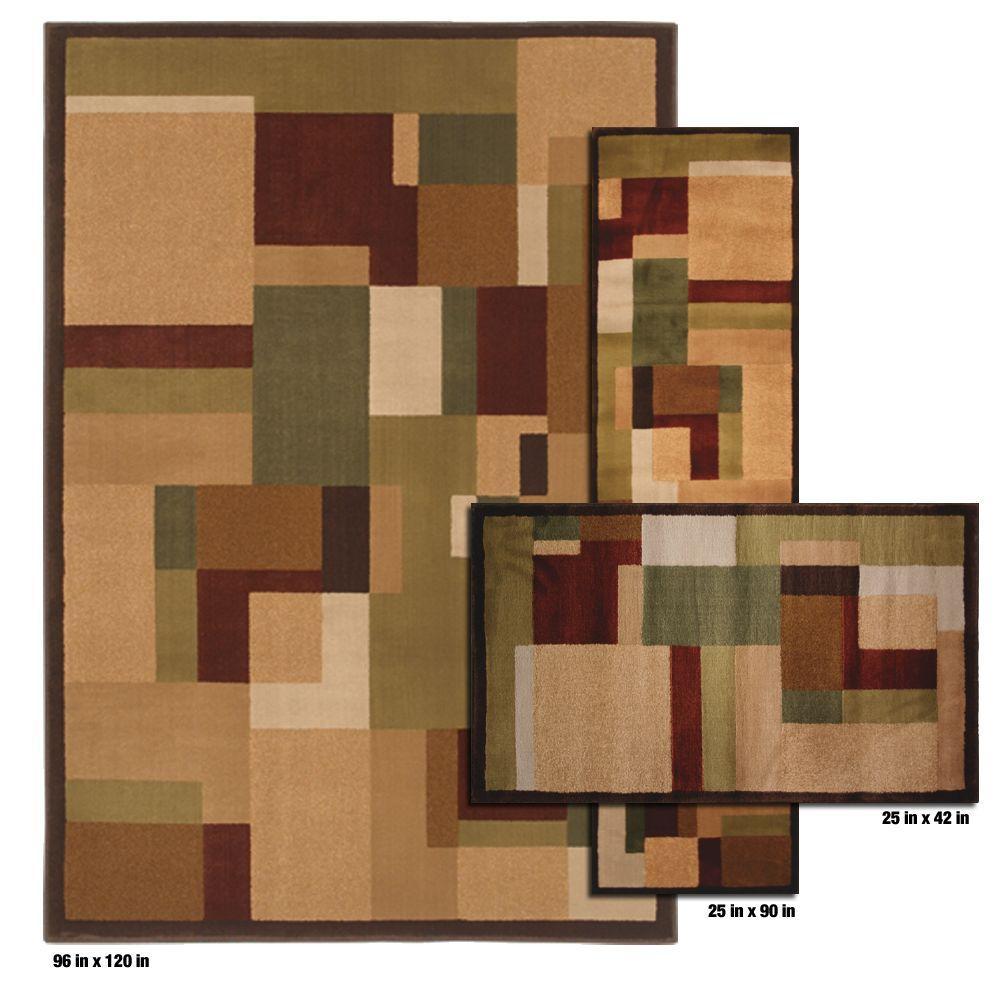 Mohawk Home Timmins Golden Rod 3 Piece Rug Set-DISCONTINUED