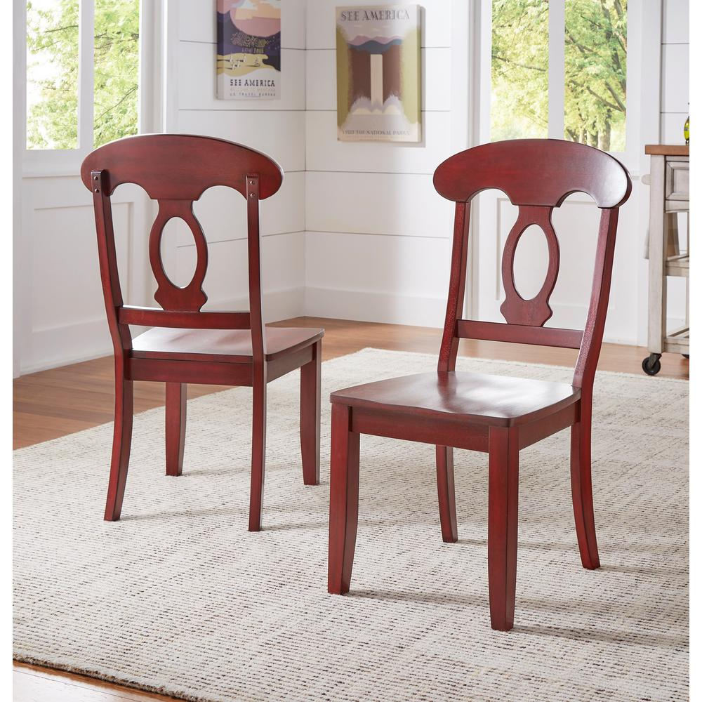 Exceptionnel HomeSullivan Sawyer Rich Berry Wood Napoleon Back Dining Chair (Set Of 2)