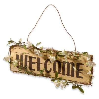 21 in. Welcome in Door Sign