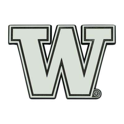 NCAA University of Washington 3 in. x 3 in. Chrome Emblem