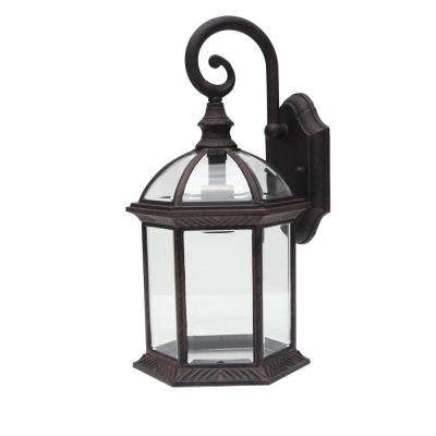 Adalyn 1-Light Venetian Bronze Outdoor Wall Mount Lantern