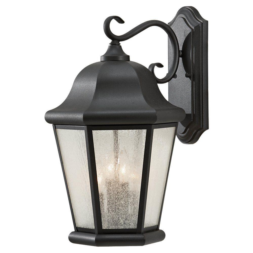 Martinsville 4-Light Black Outdoor Wall Fixture