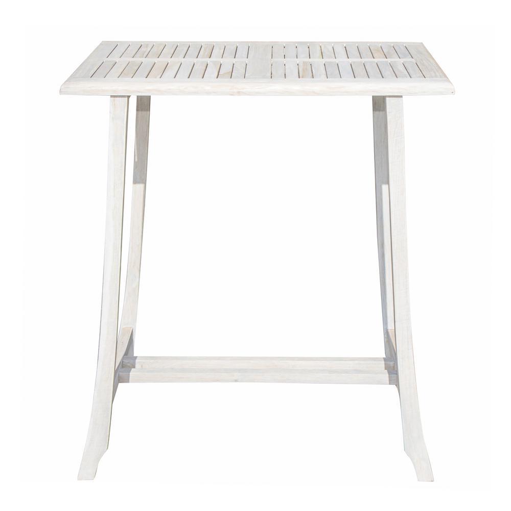 Satori Solid Teak Indoor Outdoor Dining Table in Driftwood