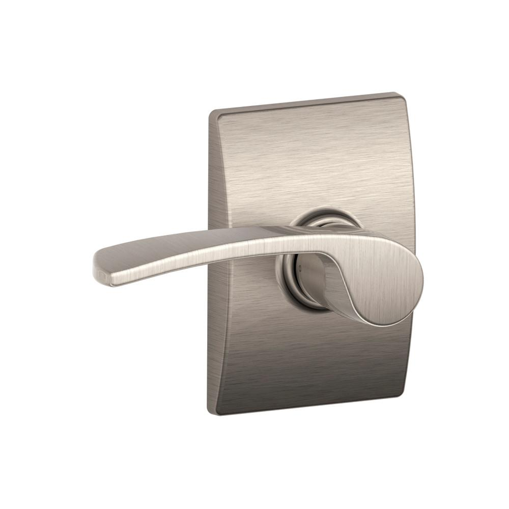 Schlage Merano Satin Nickel Passage Hall Closet Door Lever