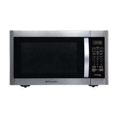 1.6 cu. ft., 1200-Watt Countertop, Inverter, Sensor Cooking Microwave Oven in Stainless Steel