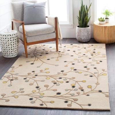 Aloysia Ivory 2 ft. x 4 ft. Hearth Indoor Area Rug