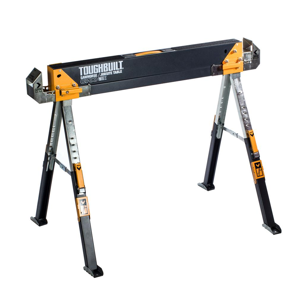 TOUGHBUILT 32 In Tall Adjustable Folding Sawhorse TB C700