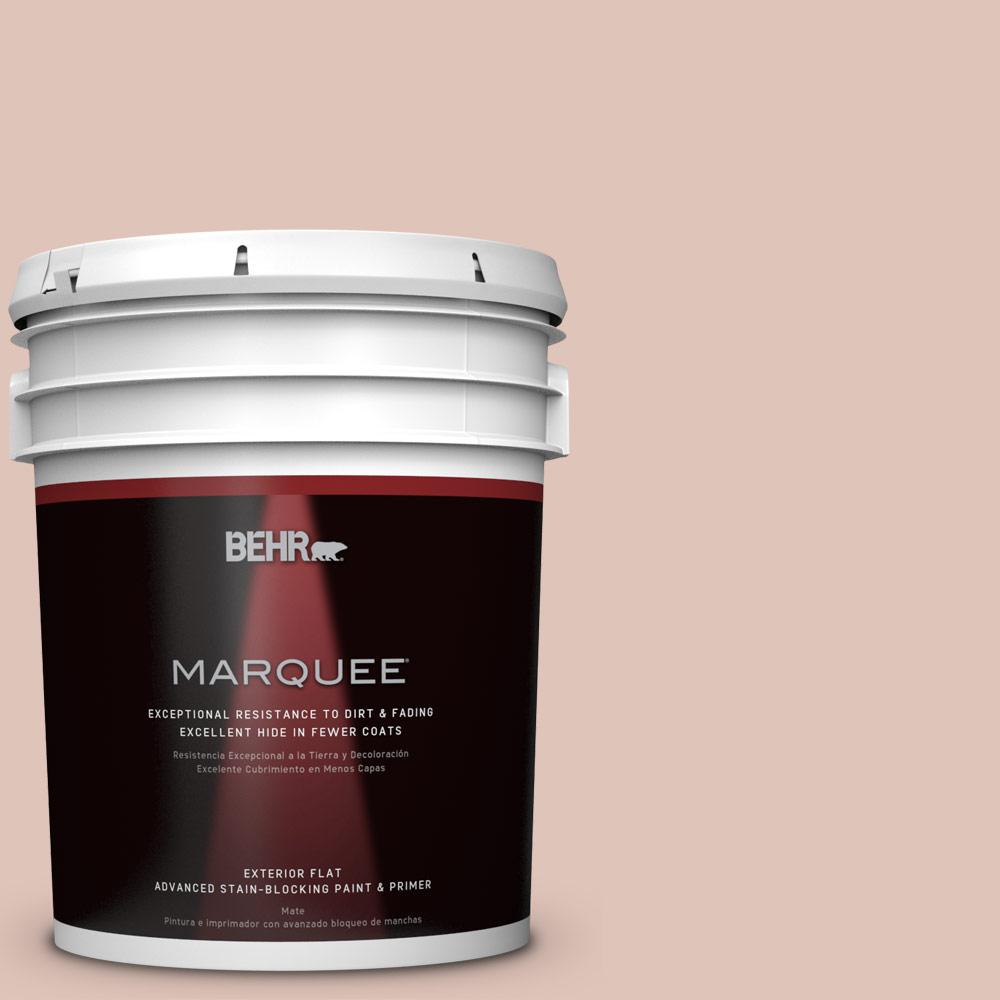 5-gal. #PPU2-7 Coral Stone Flat Exterior Paint