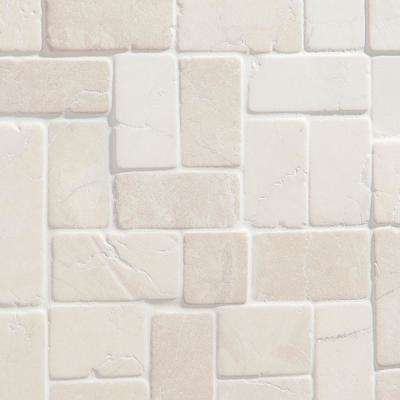 Countryside Interlocking 11.81 in. x 11.81 in. White Floor and Wall Mosaic (0.97 sq. ft. / sheet)