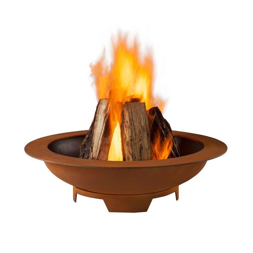Real Flame Atlas 36 in. Wood-Burning Steel Fire Pit