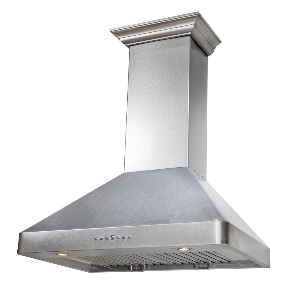 Kitchen Wall Accessories Stainless Steel: ZLINE Kitchen And Bath ZLINE 36 In. 900 CFM Wall Mount