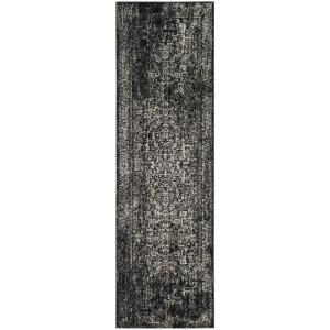 Evoke Black/Gray 2 ft. x 7 ft. Runner Rug