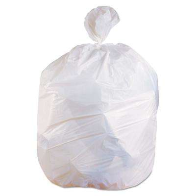 30 in. x 36 in. 30 Gal. 0.9 mil White Linear Low-Density Trash Can Liners (200/Carton)