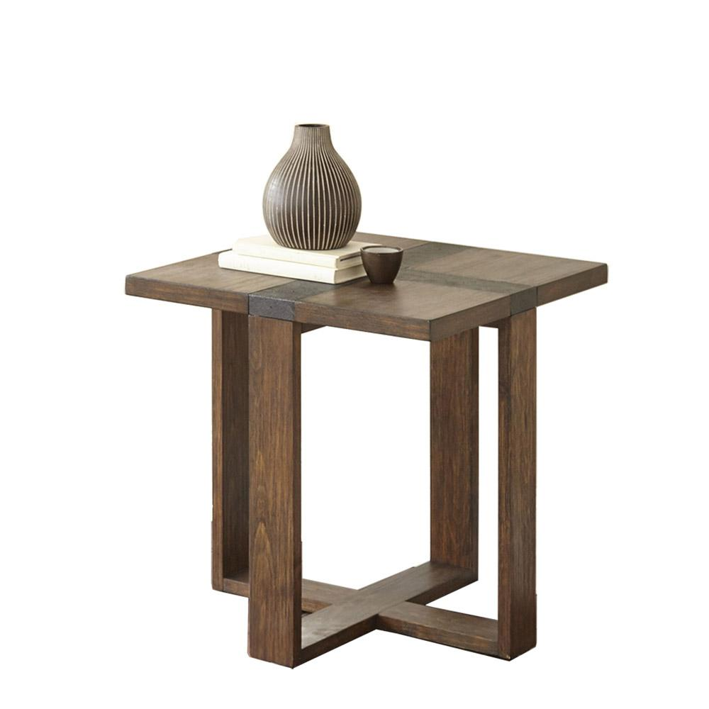 Steve Silver Company Klarissa Brown Distressed Chesnut End Table
