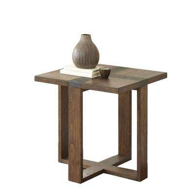 Klarissa Brown Distressed Chesnut End Table