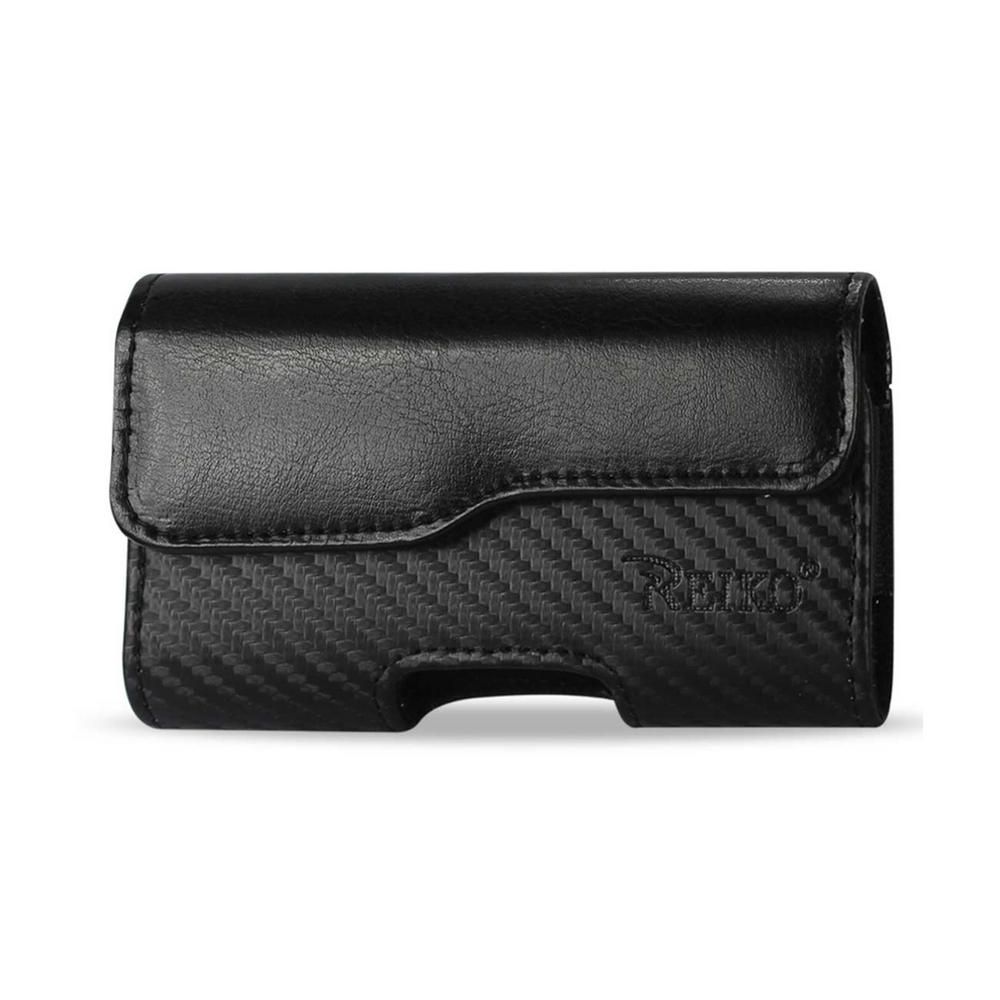 REIKO Small Horizontal Leather Holster in Black