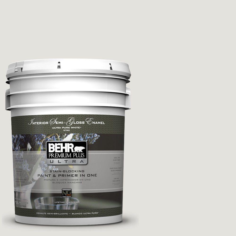 BEHR Premium Plus Ultra 5-gal. #UL200-11 Polished Semi-Gloss Enamel Interior Paint