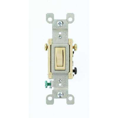 15 Amp 3-Way Toggle Switch, Ivory