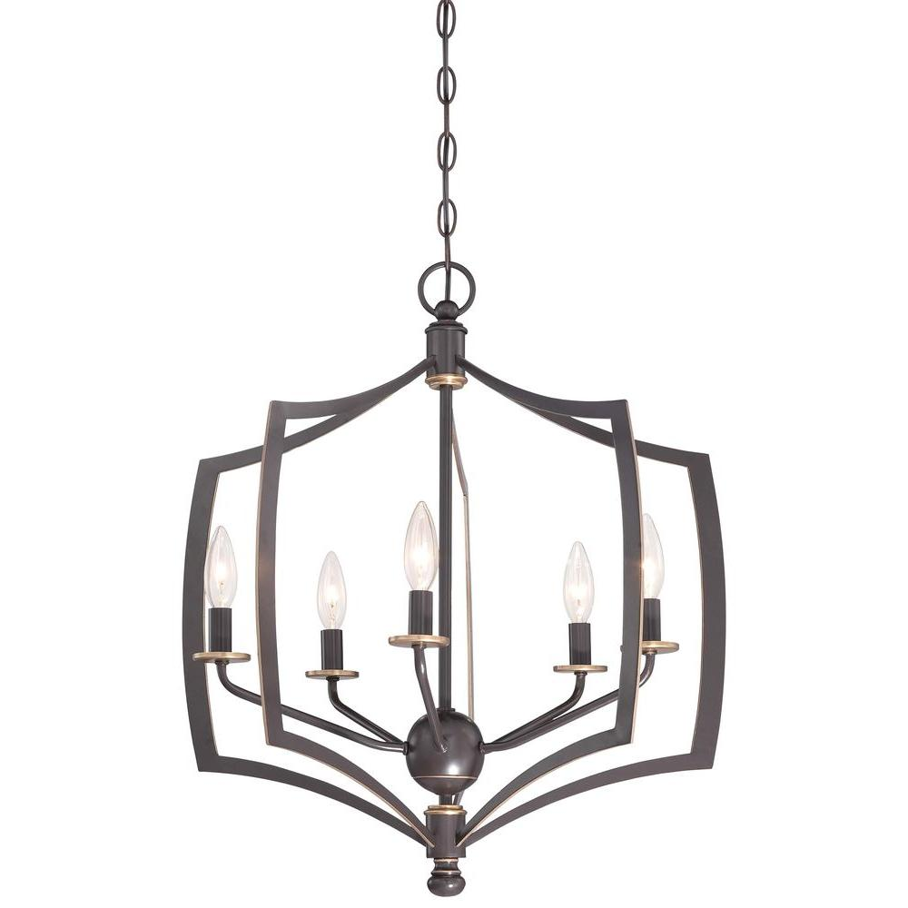 Minka Lavery Middletown 5 Light Downtown Bronze Chandelier