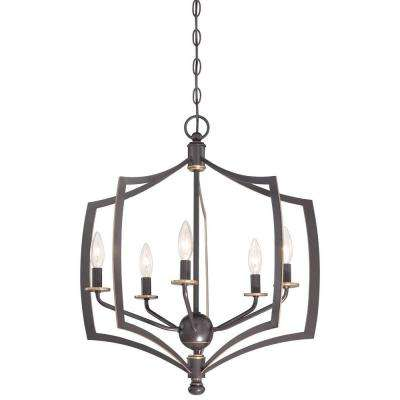 Middletown 5-Light Downtown Bronze Chandelier