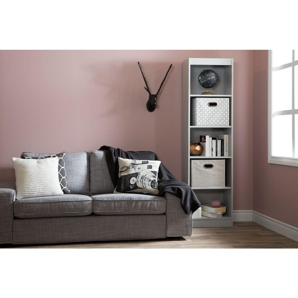 South Shore Axess Soft Gray Open Bookcase