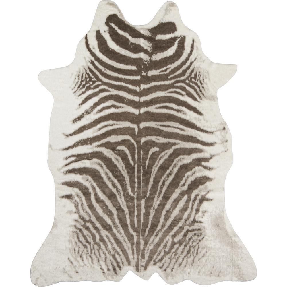 Zebra Grey 5 ft. 3 in. x 7 ft. 10 in. Area Rug