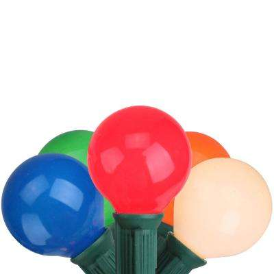 20-Light Multi-Color Opaque G40 Globe Christmas Lights with Green Wire