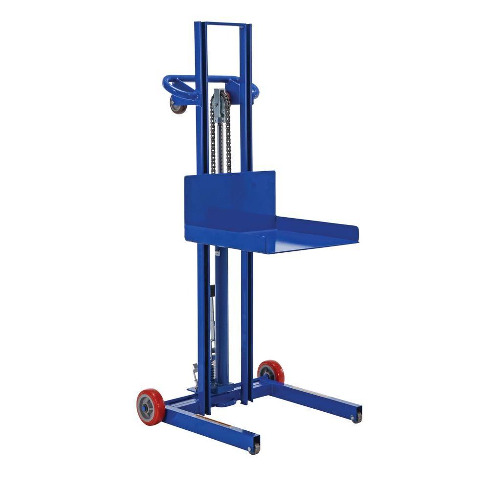 Steel Lifting : Vestil lb steel low profile foot pump lite load lift