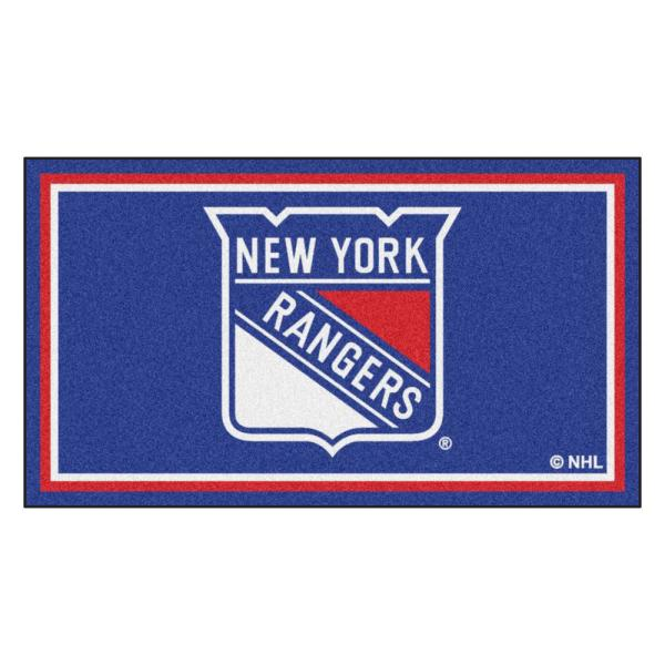 Fanmats Nhl New York Rangers 3 Ft X 5 Ft Ultra Plush Area Rug 19912 The Home Depot