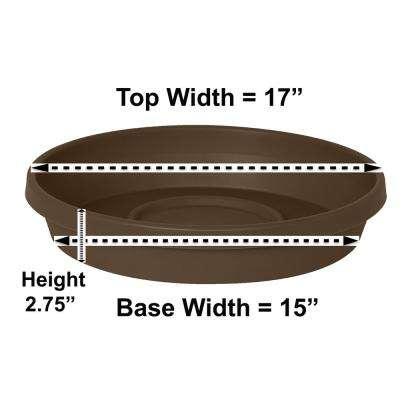 Terra Plant Saucer Tray 17 in Chocolate