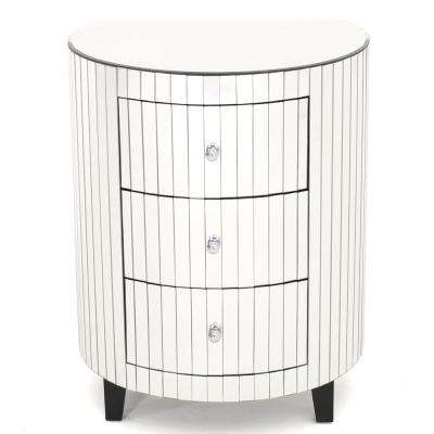 Kieran 3-Drawer Mirrored Accent Chest