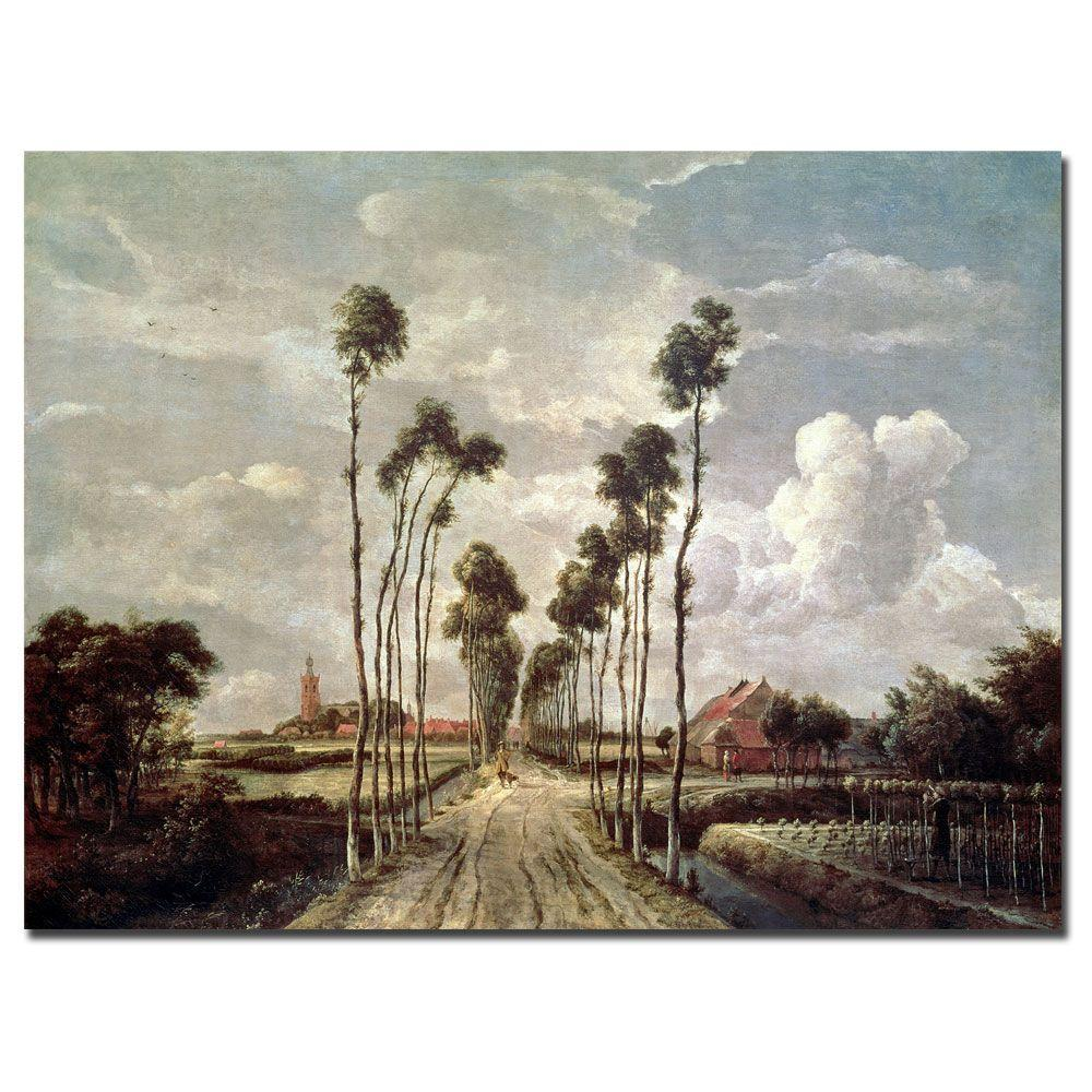 Trademark Fine Art 24 in. x 32 in. The Avenue at Middelharnis, 1689 Canvas Art
