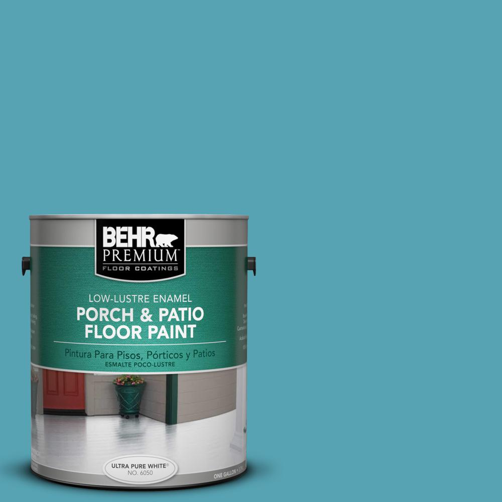 1 gal. #M470-5 Explorer Blue Low-Lustre Porch and Patio Floor Paint